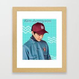 Kim Junmyeon Framed Art Print