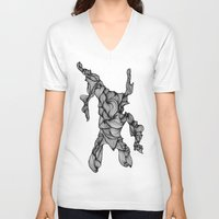 doodle V-neck T-shirts featuring Doodle by Jessica Stevens