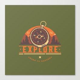 Compass Explore Canvas Print