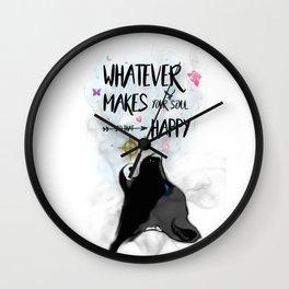 Soulful Wolf Fantasy Wall Clock