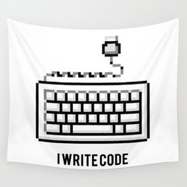 I write code Wall Tapestry