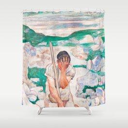 Ferdinand Hodler - The Dream of the Shepherd Shower Curtain