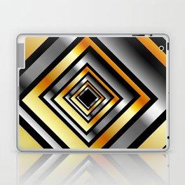 Composition with metallic squares-metal texture with illusion effectComposition with metallic square Laptop & iPad Skin