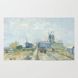 Montmartre - Mills and Vegetable Gardens by Vincent van Gogh Rug