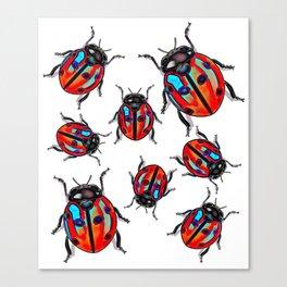 Lucky Ladybird  Beetles Canvas Print