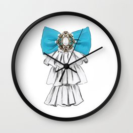 Versailles Style Riffle Jabot Painting (bow tie) T-shirt Wall Clock