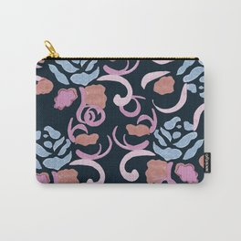 zakiaz blue roses on navy backround Carry-All Pouch