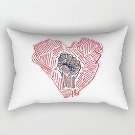 Untitled (Heart Fist) Rectangular Pillow
