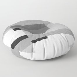 Overlay in Black and White Floor Pillow