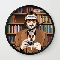 tenenbaum Wall Clocks featuring Richie Tenenbaum by The Art Warriors