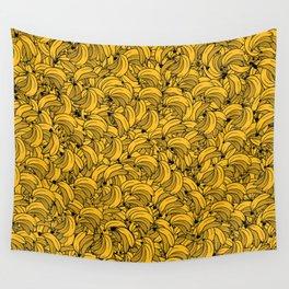 Plenty of Bananas - Yellow Wall Tapestry
