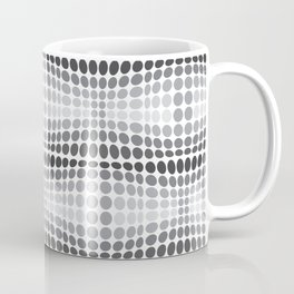 Dottywave - Grey scale wave dots pattern Coffee Mug