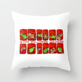 Of the Lives of the Lizard Emperors Throw Pillow