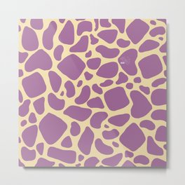 Purple Giraffe Print Metal Print