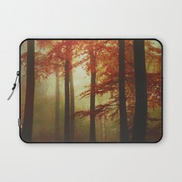 Painted Forest - Moody Autumn Woodlands Laptop Sleeve