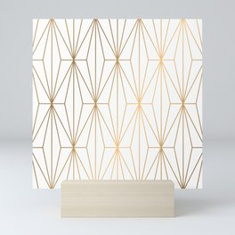 Gold Geometric Pattern Illustration Mini Art Print