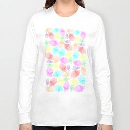 Colorful Aqua Long Sleeve T-shirt