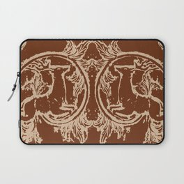 Chocolate Asheville Stags a Leaping Laptop Sleeve