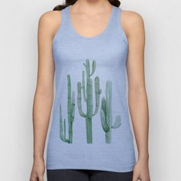 Three Amigos White + Green by Nature Magick Unisex Tank Top