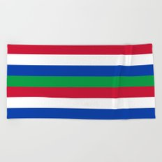 Flag of Schiermonnikoog Beach Towel
