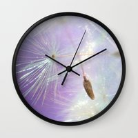 sparkle Wall Clocks featuring Sparkle by ALLY COXON