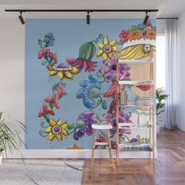 I Love the Flower Girl Wall Mural