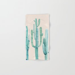 Three Amigos Turquoise + Coral Hand & Bath Towel