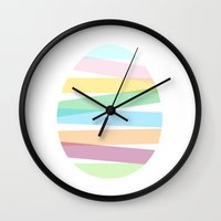 easter Wall Clocks featuring Easter by Ilona