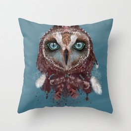 Owl Dream Catcher Throw Pillow