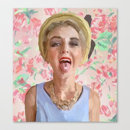 Floral Kool-Aid Summer Day Canvas Print