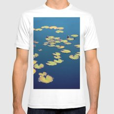 float White Mens Fitted Tee MEDIUM