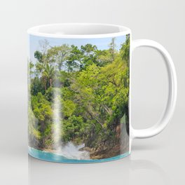Ocean and forest cliff at Manuel Antonio Costa Rica Coffee Mug