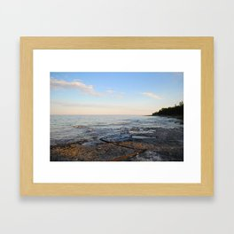 LIVE ON THE LAKE. Framed Art Print