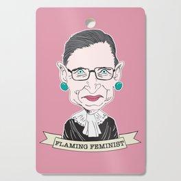 Ruth Bader Ginsburg The Notorious RBG Flaming Feminist Cutting Board