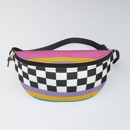 Checkered pattern grid / Vintage 80s / Retro 90s Fanny Pack