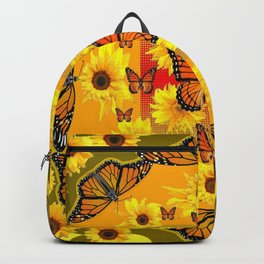 YELLOW SUNFLOWERS & MONARCH BUTTERFLIES Backpack