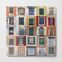 Twenty Five Windows Metal Print