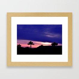 Palm Sunset - III Framed Art Print