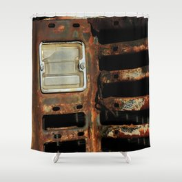 Detail Rusted International Truck1. Shower Curtain