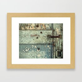 Keep This Door Closed Framed Art Print