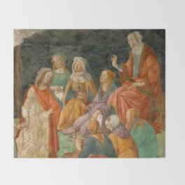 "Sandro Botticelli ""A young man introduced to the Liberal Arts"" Throw Blanket"