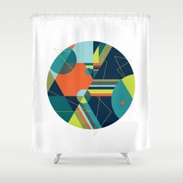 A Fraudulent Response on White Shower Curtain