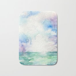 Colored Sky Watercolor Painting Bath Mat