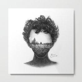 The Thinker Metal Print