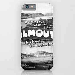 altes Plakat GWR Falmouth iPhone Case