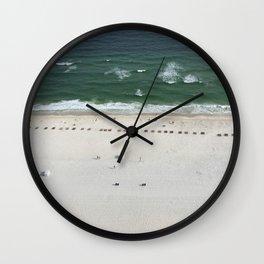 Beach Below Wall Clock