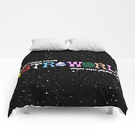 travis space astroworld Comforters