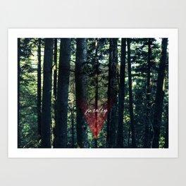 Trip Away Into the wild Art Print