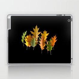 Variety coloured autumn oak leaves Laptop & iPad Skin