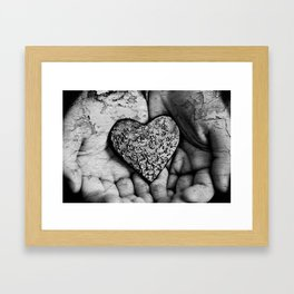 Crumling Heart Framed Art Print